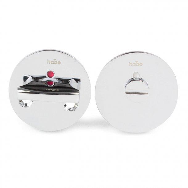 Habo Toalettbesättning - Modell F262 - Glänsande krom