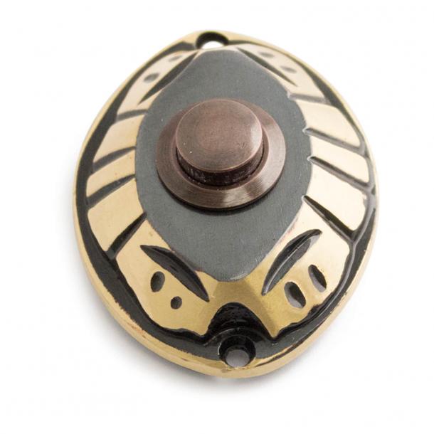 Przycisk dzwonka - Antyczny mosiądz - model 543