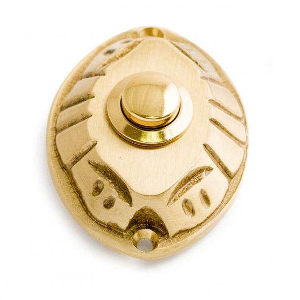 Bell push - Satin Brass - Model 543