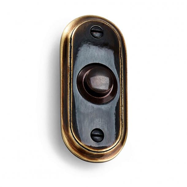 Habo Bell push - Brass Antique 65 x 25 mm