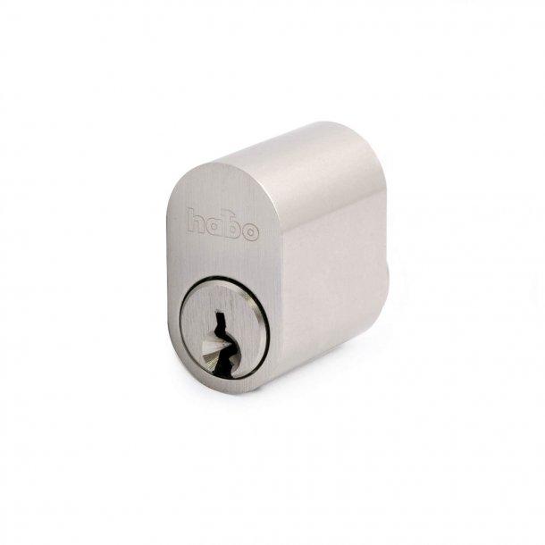 Cylinder 6-stift oval m/nøgle rf look 1 stk.