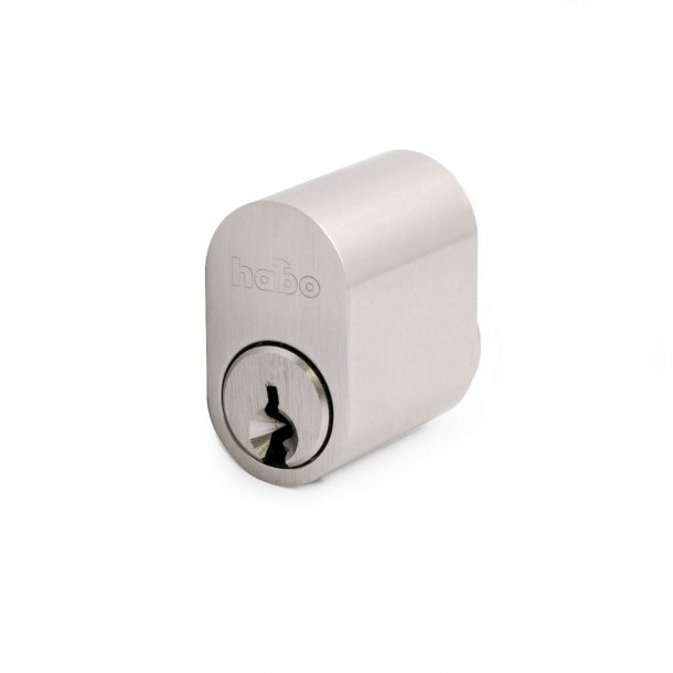 Zylinder 6-polig oval / Schlüssel Edelstahl-Look 1 Stück.