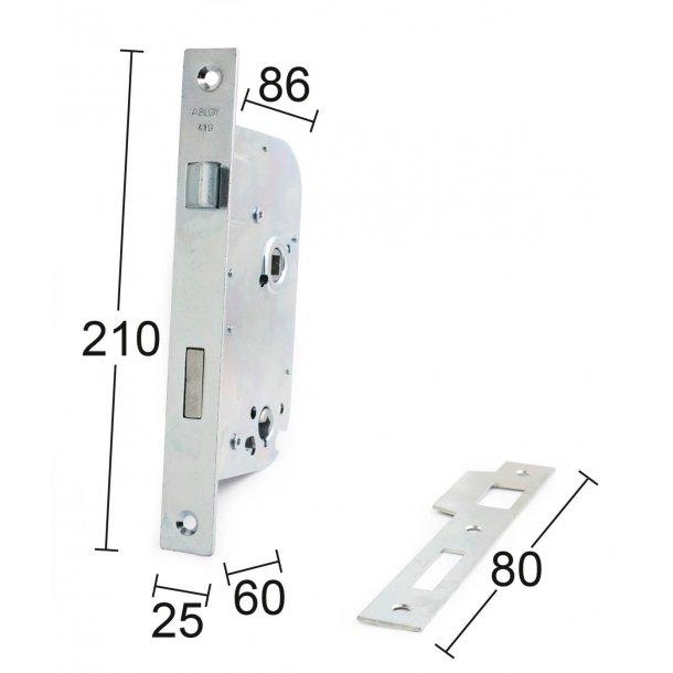 Habo door lock exterior ASSA 6410 Right / left - Elforsinket