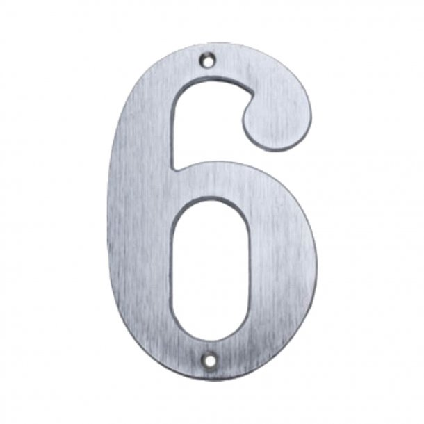 House numbers, Matte nickel, 140 mm, Model 572