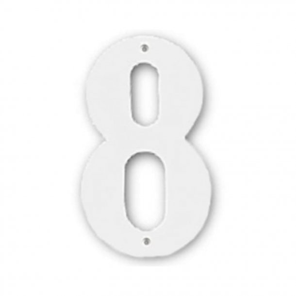 House numbers, White, 140 mm, Model 572