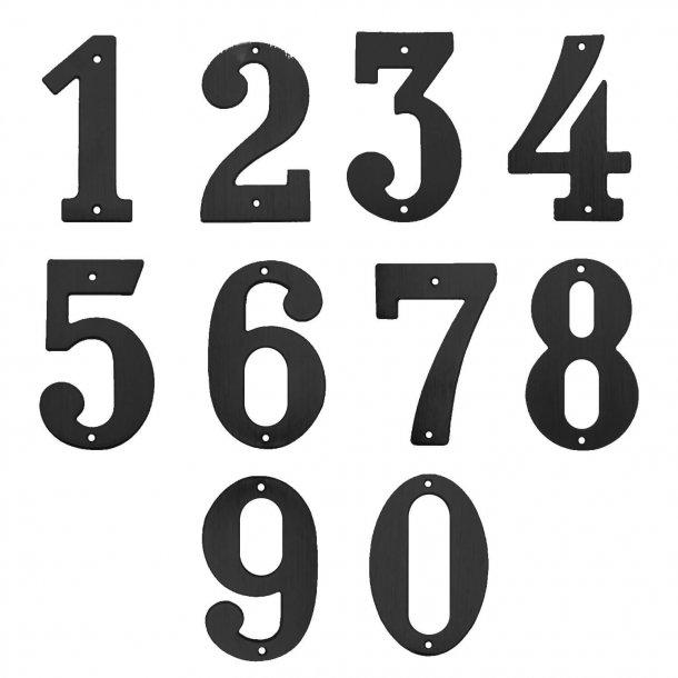 Husnummer, Svart, 140 mm, Modell 572