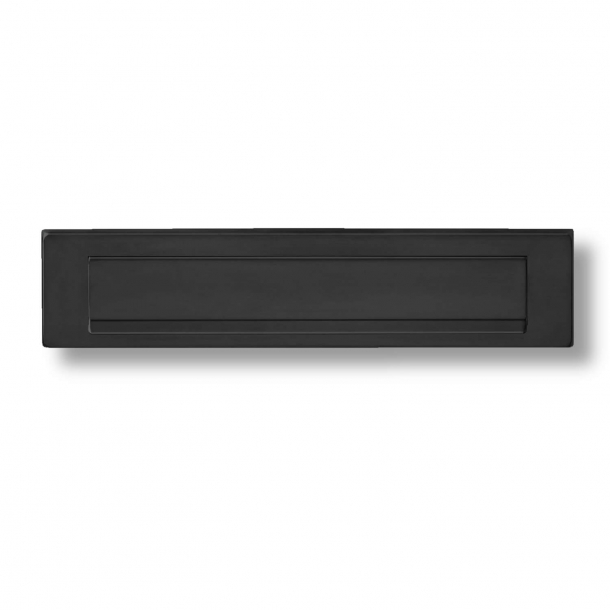 Letter Box - Black / Stainless Steel - Outgoing Letter Flap - H75 x W340 x D7 mm