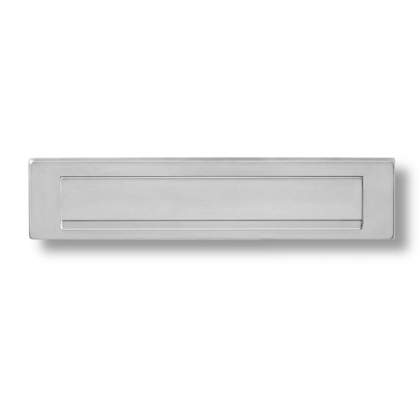 Letter Box - Brushed stainless steel - Outgoing Letter Flap - H75 x W340 x D7 mm