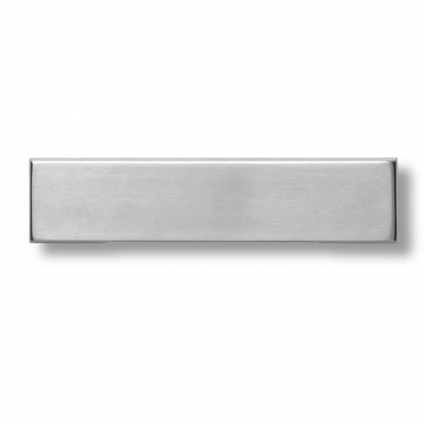 Letter frame - Brushed stainless steel - Letter box - Outgoing letter flap - h79 x b345 x d8