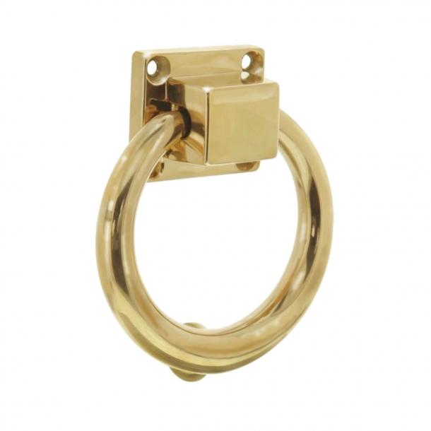 Türklopfer - Messing ohne Lack - Ring - 117 mm