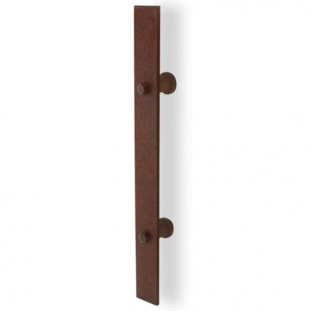 Handle for sliding door - Rust iron - 400mm