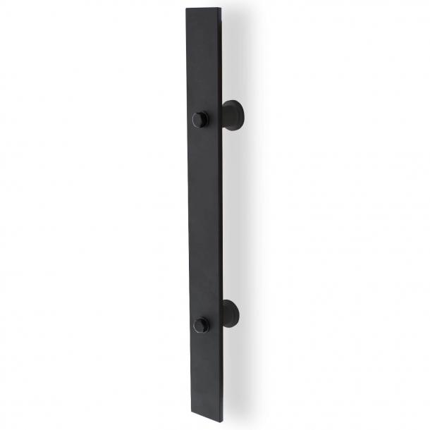 Handtag för skjutdörrfäste - Svart metall - 400mm