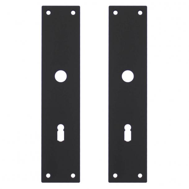 Langschild mit Schlüsselloch (Satz) Mattschwarz - Modell 583