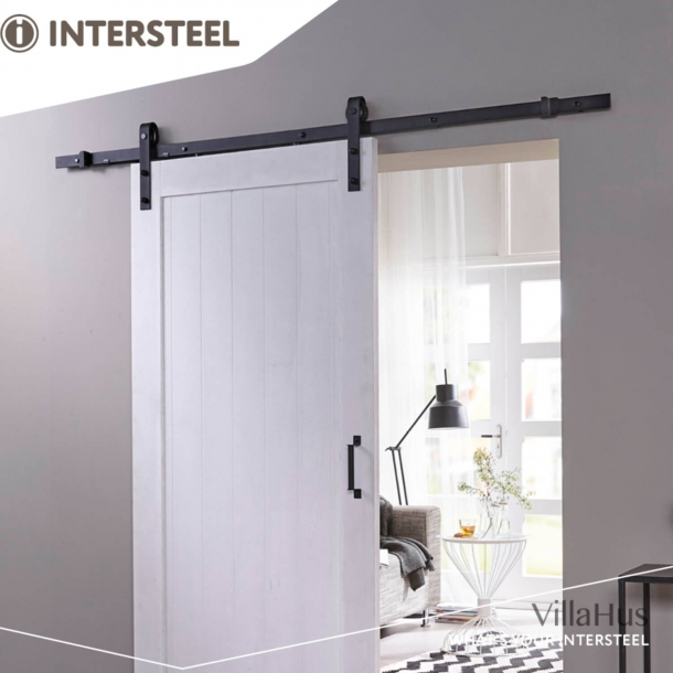 Kit for Sliding Doors - Basic Front - Black metal