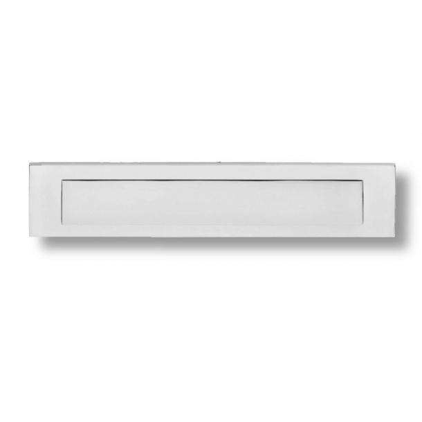 Briefrahmen - Chrom poliert - Briefkasten Abgangsklappe - H70 x B347 x T7