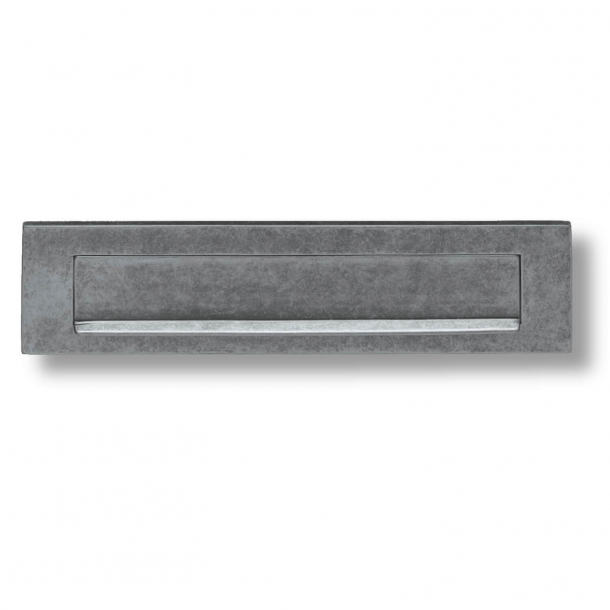 Wrzutka na listy z krawędzią przeciwdeszczową - Stare żelazo - 325 x 77 mm
