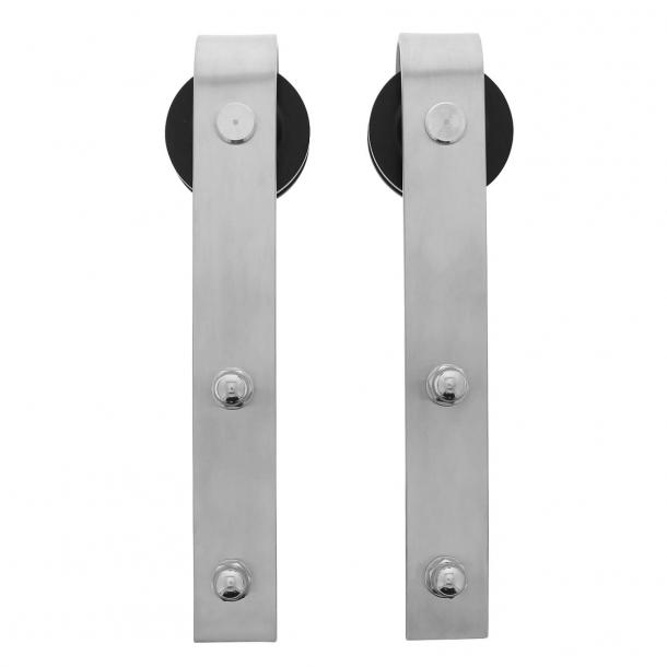 Rolki do drzwi przesuwnych - Stal nierdzewna - Koło na metalowym pasie - IN.0035.450105