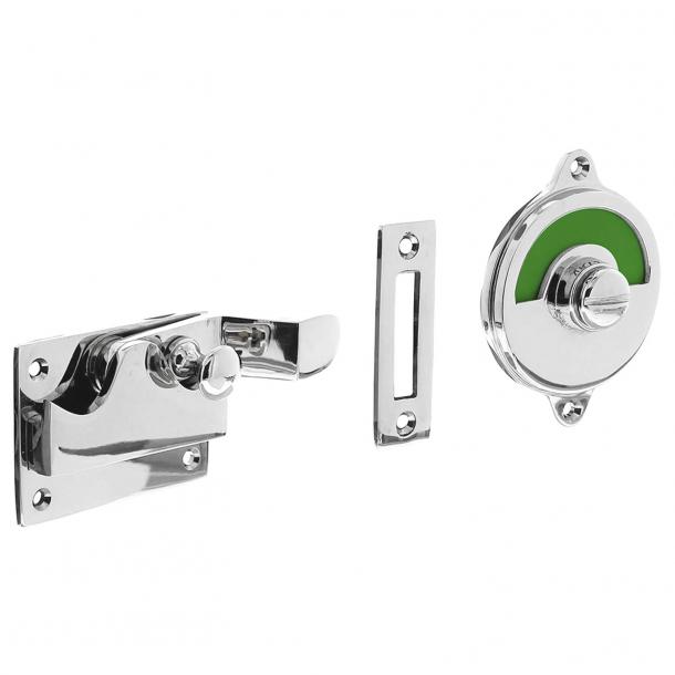 Blokada prywatności do WC -  Oznaczenie prywatności - Chrom polerowany