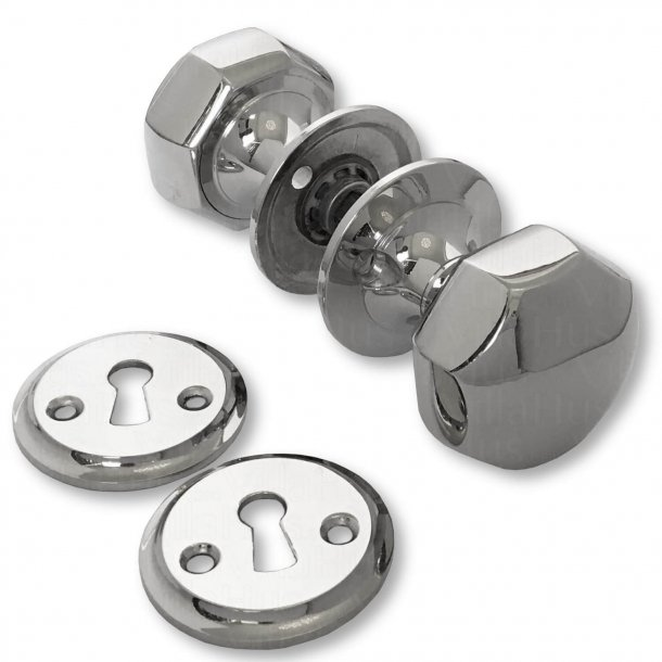 Door handle - Doorknobs 459 - Nickel Glossy