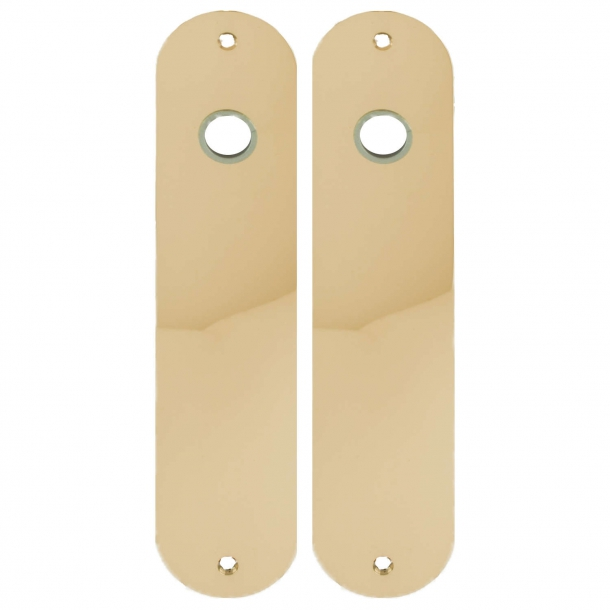 Door back plate - Brass