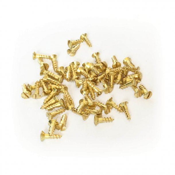 Brass wood screws - Slotted - 3x12 mm (330003)