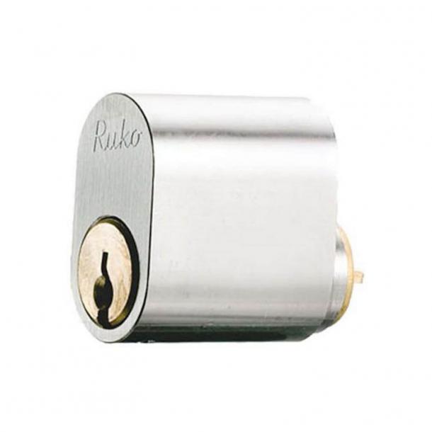 RD1660 Enkel oval cylinder - Utseende i borstat stål - 2 nycklar