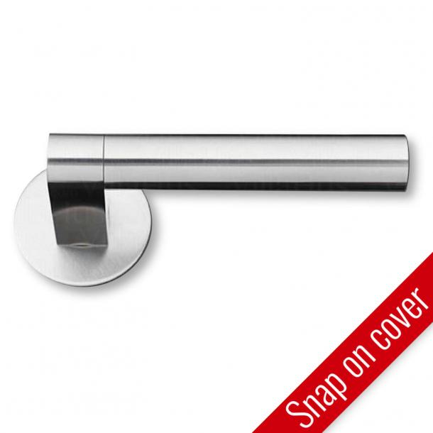 Dörrhandtag - Borstat stål - GRATA - Modell 1077 - cc30mm - Snap-on-cover