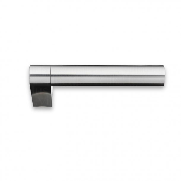 Door handle without rosettes - Brushed steel - GRATA - Model 1077