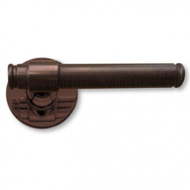 Randi bruneret messing dørgreb udendørs - H-form - Model p3014