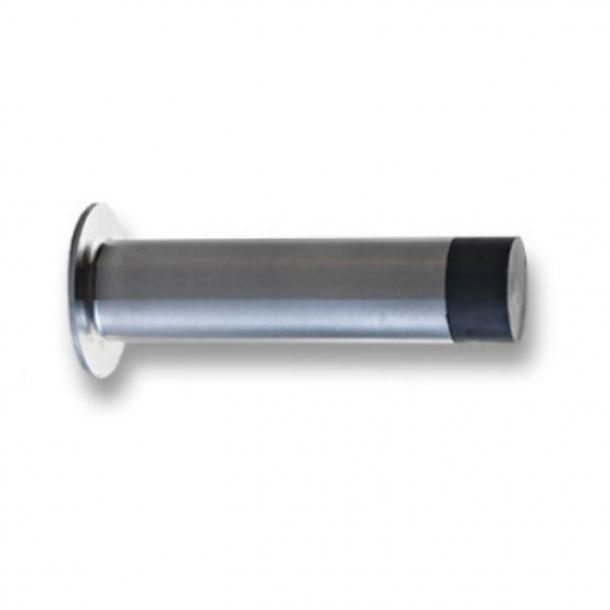 Ograniczniki drzwi - RANDI - Stal szczotkowana - Na ścianie 77 mm