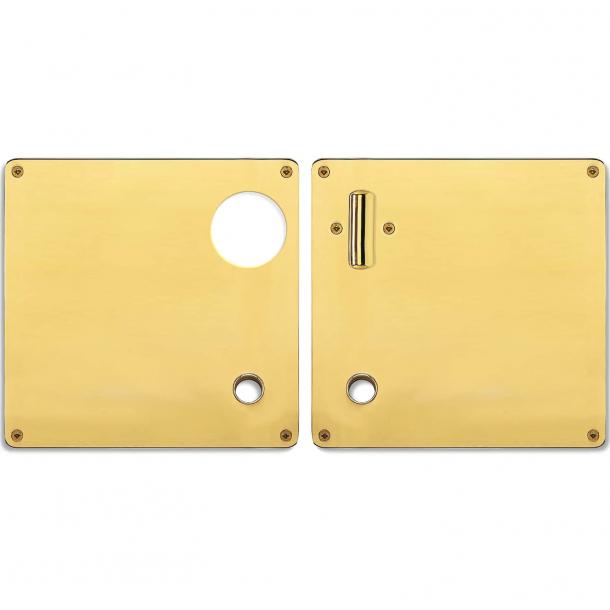 Formad skylt - Svängbart handtag och kophul - Höger - Mässing - RANDI modell 1385 - 175x170x2
