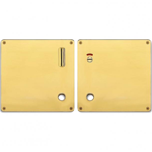 Formad skylt - WC-lås - Vänster - Mässing - RANDI modell 1385 - 175x170x2 mm