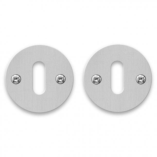 RANDI Escutcheon - Stainless steel - cc38mm - Holes for wooden screws