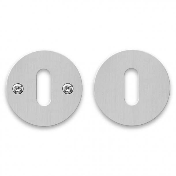 RANDI Escutcheon - Stainless steel - cc38mm - Visible screws on one side