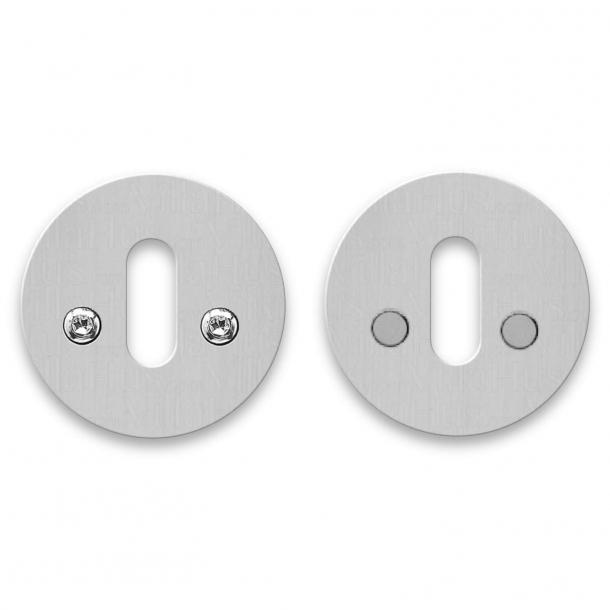 Randi nøgleskilt - Rustfrit stål - cc27 mm - Synlige skruer på begge sider
