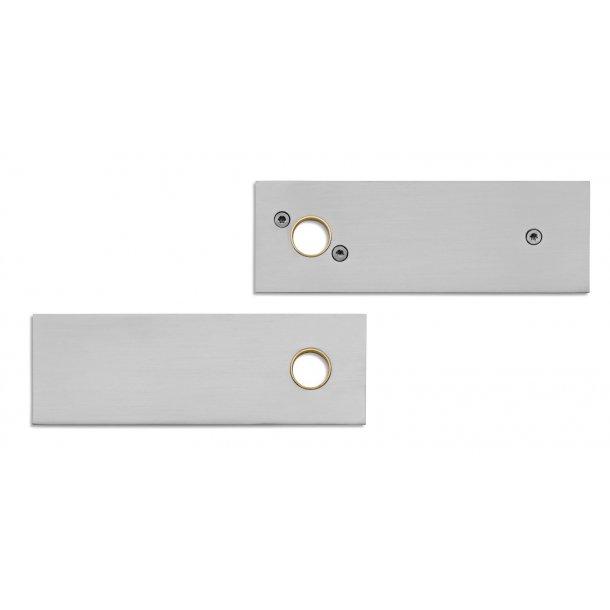 Randi rektangulær roset - Rustfrit stål - Skruer højre greb - cc30 mm