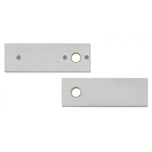 Randi rektangulær roset - Rustfrit stål - cc38 mm