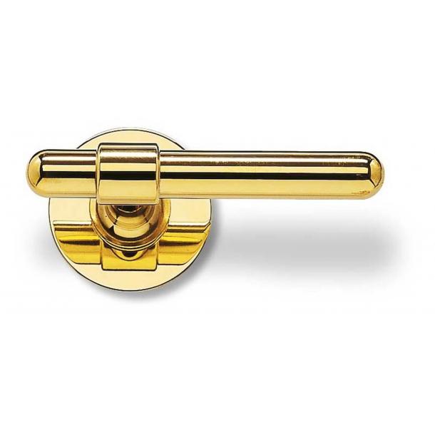 Klamka do drzwi - RANDI - Mosiądz - C-kształt - Model p3021