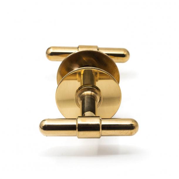 RANDI brass door handle - C-form - Model p3023