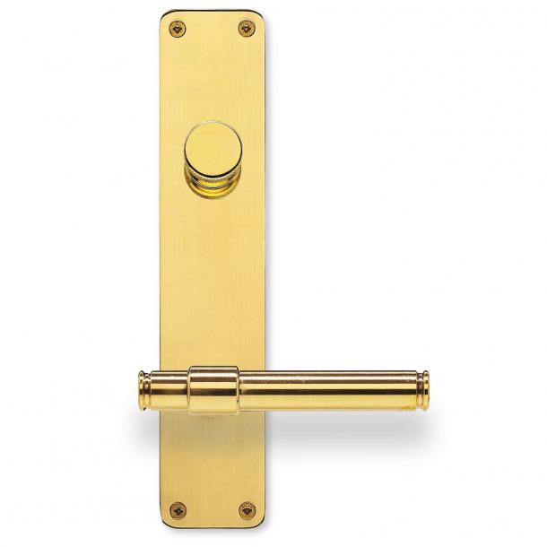Dørgreb på langskilt - Messing - Vrider & Cylinder - Randi Classic Line