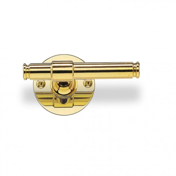 Door handle  - Brass - Classic Line - Model p301296 - Wood screws