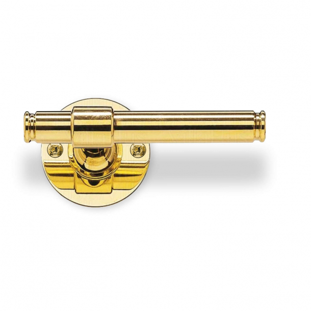 Door handle - Brass - Classic Line - Model p301196 - Wood screw