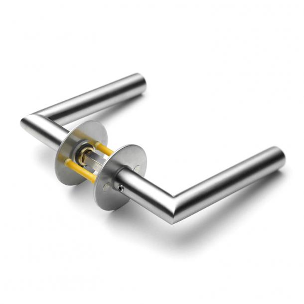 Klamka drzwiowa Randi - Klamka prosta z klamką - Stal nierdzewna szczotkowana - Model 7024 - cc38 mm