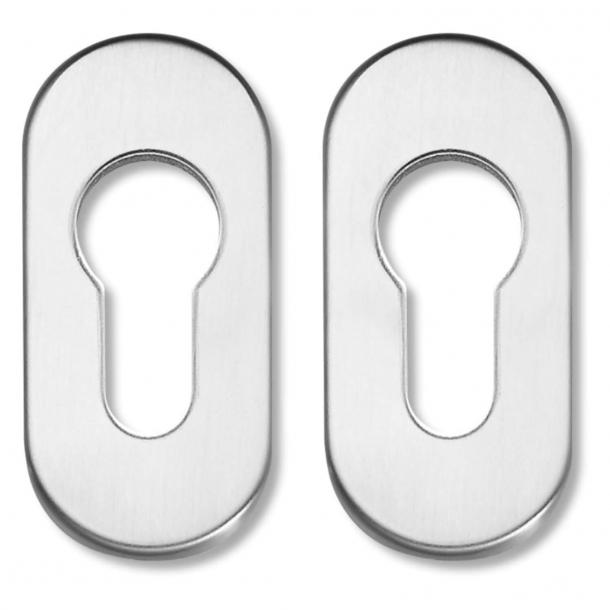 Ovalrosette mit Abdeckung, Profil Zylinder, 65x30 mm, für Rohrrahmentüren