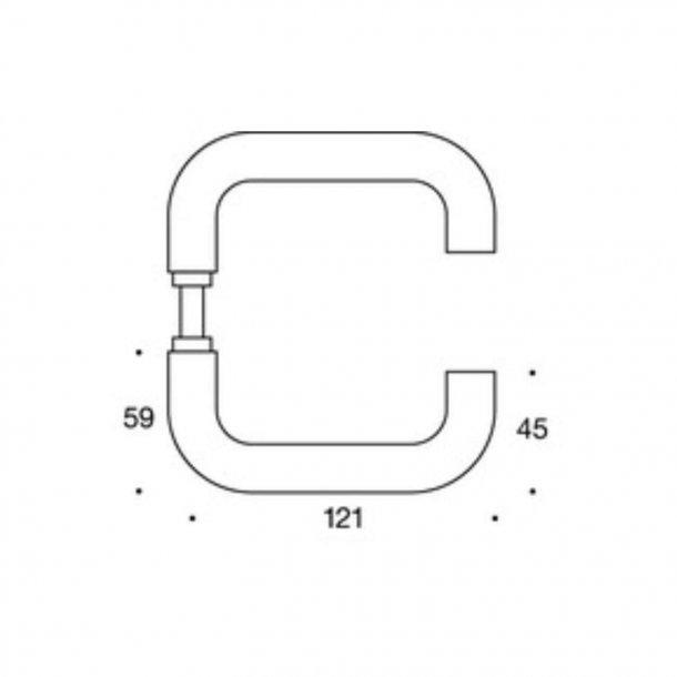 Randi door handle - U-shape - Stainless steel - Model 1020