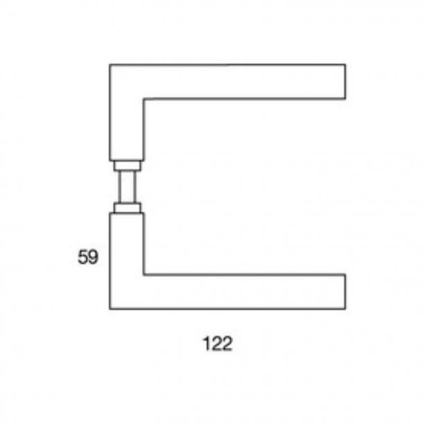 Randi Door handle - Straight mitred - Stainless steel - Model 1024