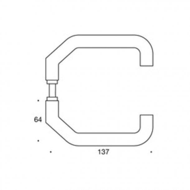 Randi dørgreb - Fortsat U-form - Rustfrit stål - Model 1028