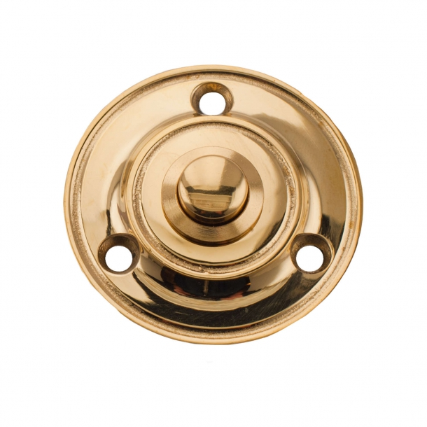 Bell push - Brass without lacquer - Model 2080 - ø51 mm