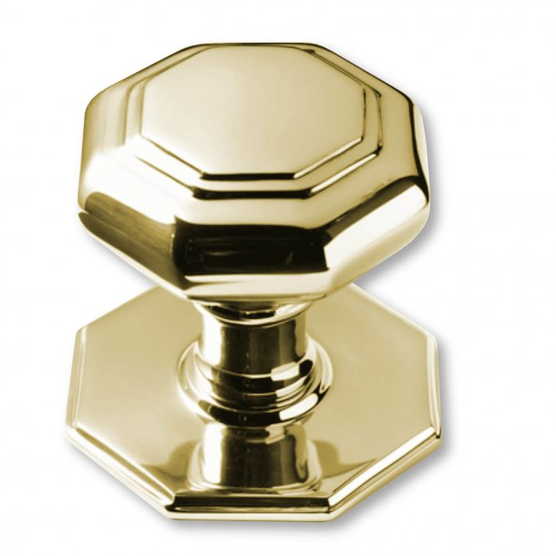 Centre Door Knobs - Non Lacquered Brass - 67 mm (P2130-B)