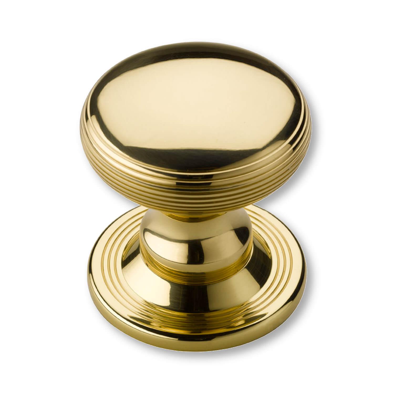 Centre Door Knobs - Non Lacquered Brass - 88 mm (P2134-A) - Centre ...